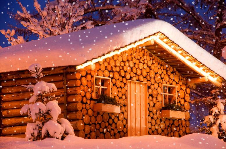 Un intimo chalet di montagna per un romantico weekend fra le nevi ...