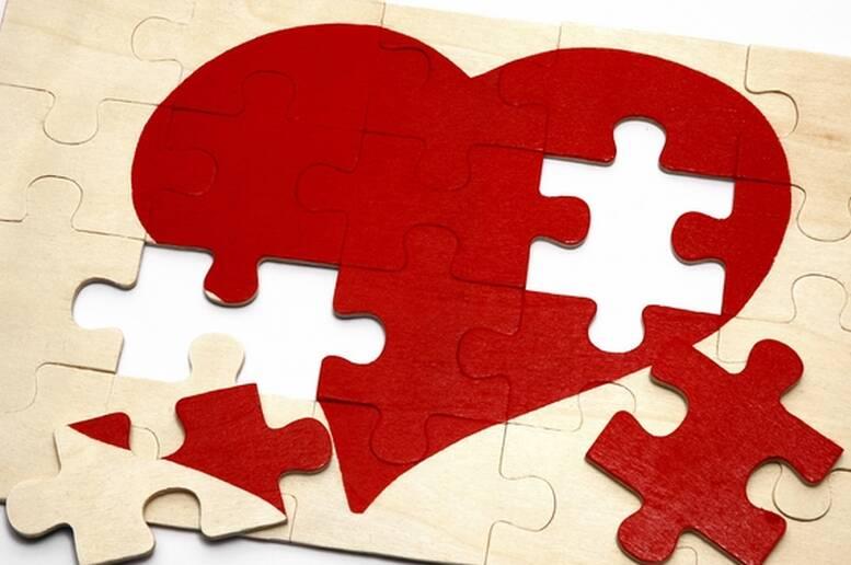 Un Romantico Puzzle Per Il Tuo Biglietto D Amore Coppia