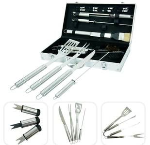 Kit 18 utensili per barbecue
