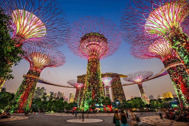 Al Gardens by the Bay di Singapore, tra giardini mirabolanti e alberi giganti